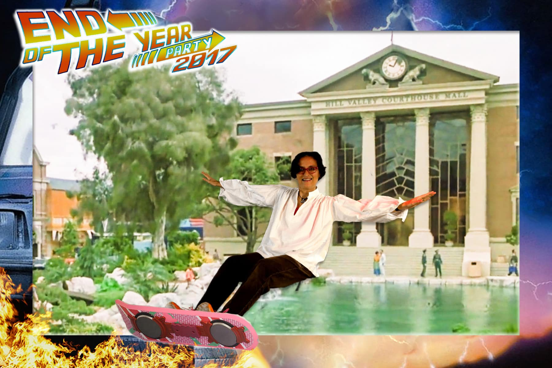Greenscreen foto met Back to the future hoverboard