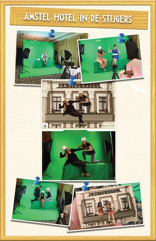 green screen huren voor greenscreenfotografie in het Amstel Hotel Amsterdam
