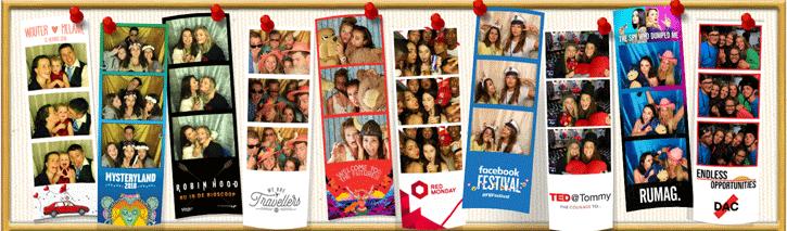 fotostrips ontwerpen van photobooth op prikbord